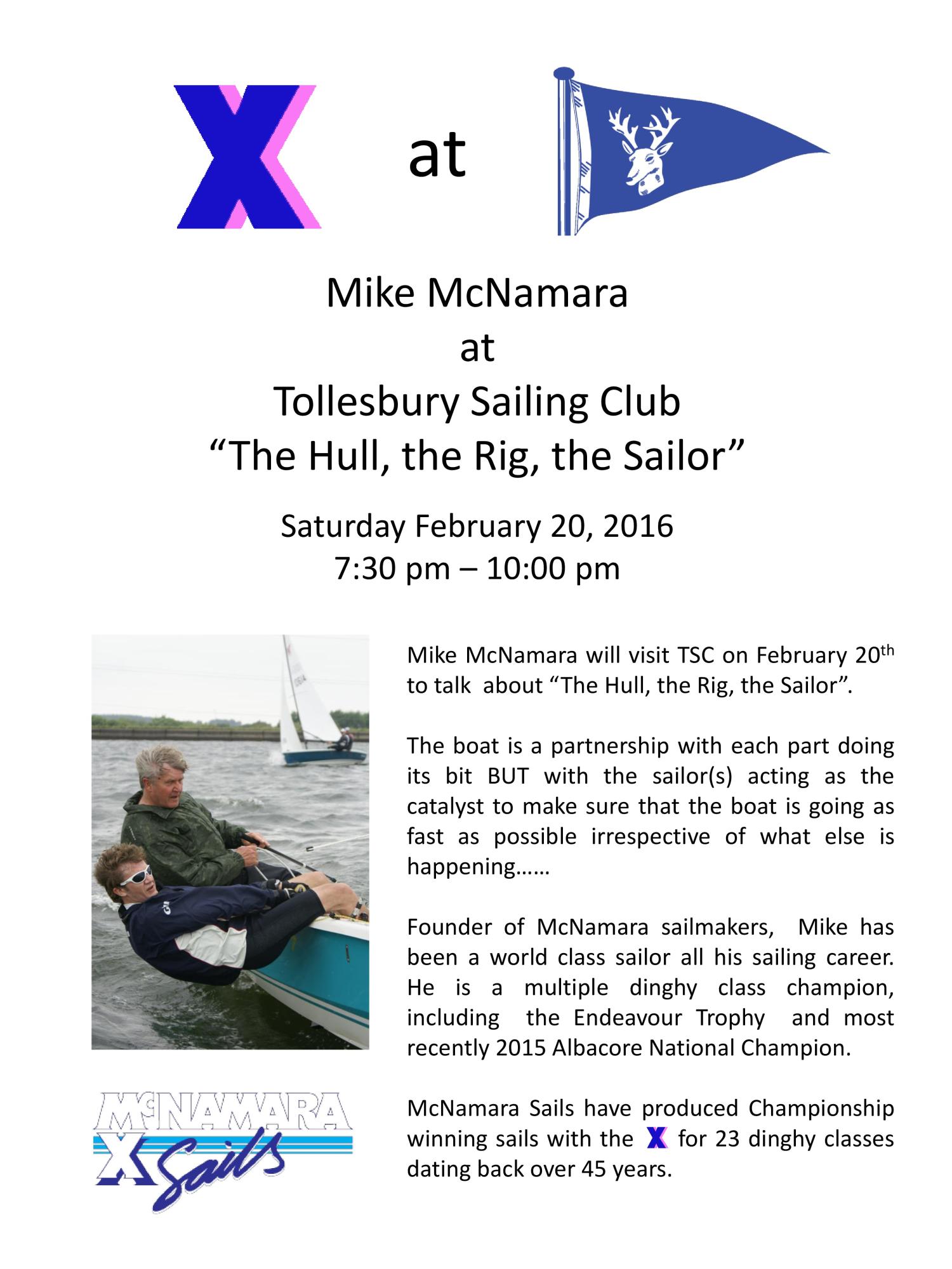 Talk - Mike McNamara @ TSC | Tollesbury | United Kingdom