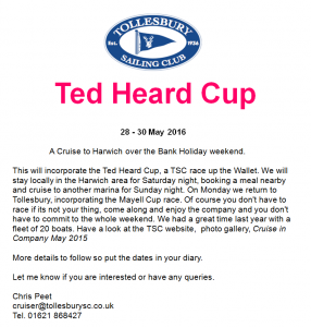 Ted Heard Cup to Ipswich