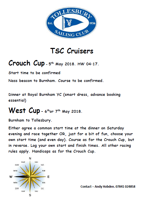 Crouch Cup / Cruise to Burnham